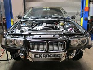 Top Mount Gt35 Turbo Kit Manifold Downpipe Intercooler For 92 98 Bmw E36
