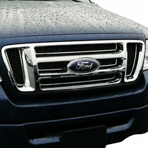 Chrome Grille Overlay bar Style Grill For 2004 2008 Ford F 150
