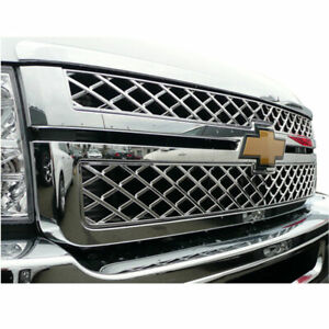 2500 3500 Chrome Grille Overlay Overlay For 2011 2013 Chevy Silverado Hd