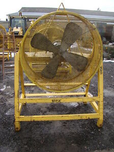 44 4 Blade Industrial Axial Fan With Lincoln 5 Hp 3 Phase Electric Motor