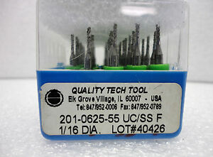 new Quality Tech Tool Pcb Router Bits 201 0625 55 Uc ss 1 16 0626 48 Pcs