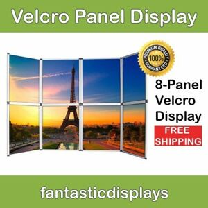 8 Panel Table Top Trade Show Display Velcro Exhibitor Presentation Board