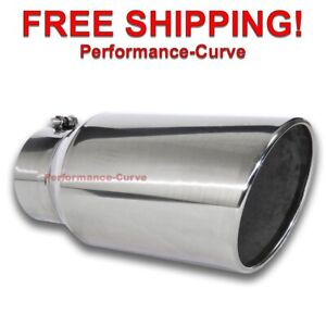 Diesel Stainless Steel Bolt On Exhaust Tip 5 Inlet 7 Outlet 15 Long