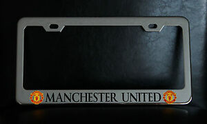 Manchester United License Plate Frame Custom Made Of Chrome Plated Metal