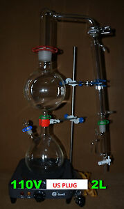 Essential Oil Steam Distillation Apparatus essential Oil Distillation Kit 110v