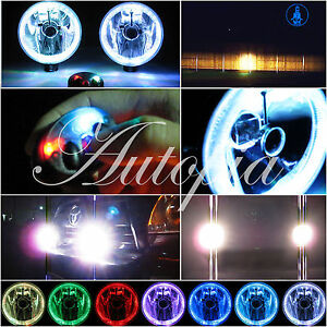 Kc Halo 6 Grill Guard Fog Lights Hilites Style Jeep Truck Brush Bar Lamps