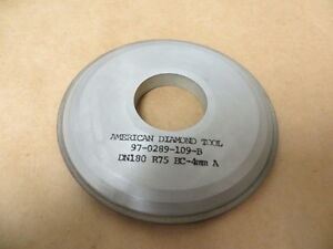 100 Mm X 10 Mm X 32 Mm 15a9 Saucer Style Diamond Grinding Wheel 180 Grit 75 Con
