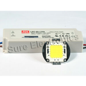 60w White High Power Led Light Lamp Panel Mean Well Ac dc Led Driver Lpc60 1750