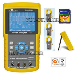 Dw 6093 3 Phase Power Analyzer Meter Tester W sd Card Real Time Data Recorder