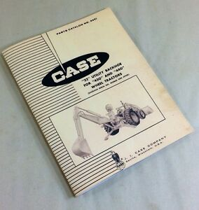J I Case 22 Utility Backhoe For 430 440 Wheel Tractors Parts Catalog Manual