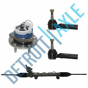 Rack And Pinion 1 New Front Wheel Hub And Bearing Assembly 2 Outer Tie Rods