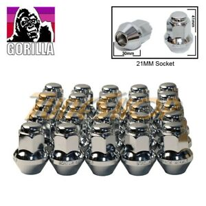 25 Gorilla Large Seat Oem Oe Stock Wheels Lug Nuts 14x1 5 M14 Acorn Rims Chrome