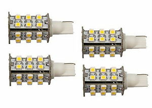 4x T10 Wedge Base 30 Leds Bulb Replacement For 194 921 Trailer Camper Boat Rv