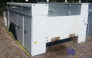 Utility Body Bed Box For Bucket Crane Service Truck 82 Cab Axle 172 Overall