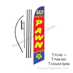 Easy Pawn Feather Banner Swooper Flag Kit With Pole spike
