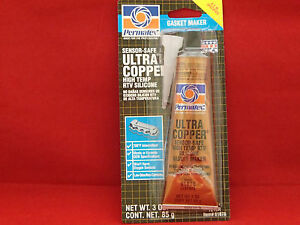 Permatex Ultra Copper Maximum High Temperature Rtv Silicone Gasket Maker 81878