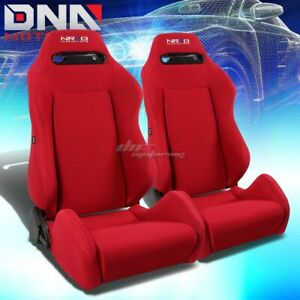 X2 Nrg Type r Red stitches Fully Reclinable Sports Deep Racing Seat seats slider