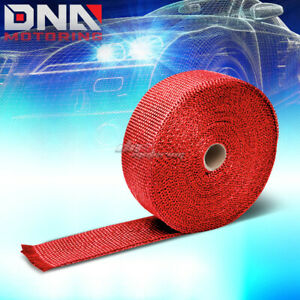 Exhaust Header Turbo Manifold Down Pipe Racing Red Heat Wrap 2 x 1 16 X 33