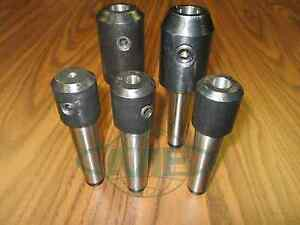 Mt3 Morse Taper 3 End Mill Tool Holders 5 Pcs Select Sizes Draw Bar Styles