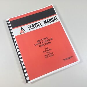 Allis Chalmers 900 Series Lawn Garden Tractors Mower Service Repair Shop Manual