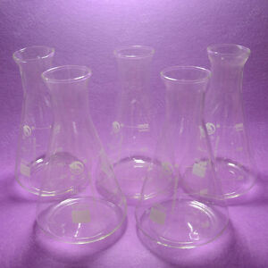 1000ml Conical Flask erlenmeyer Flask with Wide Mouth lab Glassware 5pcs lot