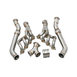 Single Turbo Downpipe Manifold Kit For 240sx S13 S14 Rb20 Rb25 T70 500hp Black
