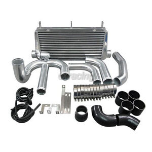 4 Core Fmic Intercooler Kit For 93 2002 Toyota Supra Mkiv 2jz gte Single Turbo