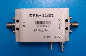 6 12ghz 19db Gain 9v To 15v Rf Amplifier Epa 158t New Sma