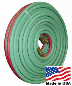 100 Twin Oxygen Mapp Lp Propane Torch Hose Grade T B b Fittings