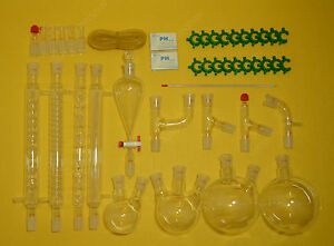 Lab Glassware Kit 24 29 organic Chemistry lab Glass Kit laboratory Glassware Kit