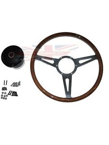 New 15 Laminated Rivited Wood Steering Wheel Adaptor Mgb 1977 1980