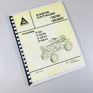 Allis Chalmers 700 Series Parts Catalog Manual List Lawn Mower Garden Tractor