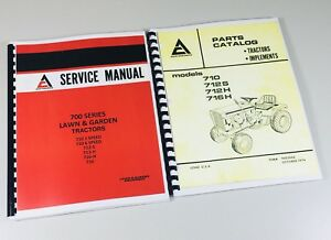Allis Chalmers 710 712s 712h 716h Parts Catalog Service Manual Garden Tractor