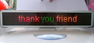 Led Message Sign Scroll Moving Display 21 Desk Board Programmable 3 Color