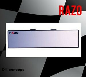 Razo Wide Angle Convex Mirror 300mm Length Universal Fit Black Rg23