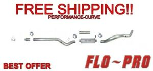 4 Exhaust System Stainless Flo Pro Ss820 Fits 01 07 Gm Duramax 6 6l
