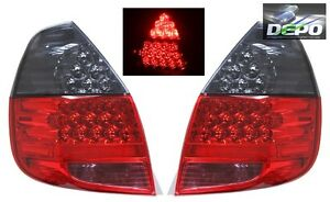 Fits 2007 2008 Honda Fit Jazz Gd3 Full Led Red Smoked Tail Lights Depo