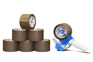 36 Rolls 2 X 55 Yards Tan Packing Tape 1 8 Mil 1 Free 2 Tape Gun Dispenser