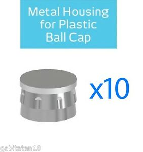 Dental Metal Housing Cap For Plastic Ball 10 Units Cap For Ball Attachments