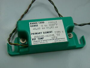 Leeds Northrup Type K 0 2500 f Range Card 650143