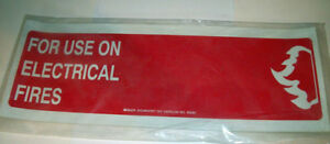 Fire Extinguisher Sticker 3 Pack For Powder Type For Use On Electrical Fires