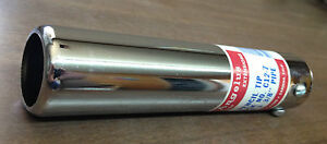 Lot Of 10 Chrome Exhaust Tips Rolled Pencil Tip 1 1 2 X 7