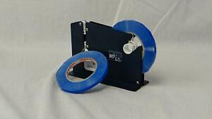 Poly Bag Sealer Tape With Dispenser 3 8 Inch X 180 Blue Color 48 Rolls