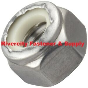 500 1 4 20 Coarse Thread 18 8 Stainless Steel Nylon Insert Lock Stop Nut