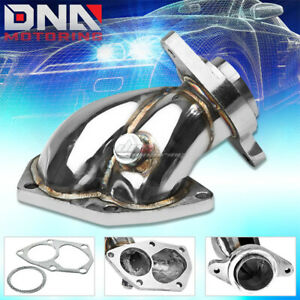 03 08 Mit Evo Vi viii ix 4g63t Td05 t517t Turbo Downpipe Outlet Elbow Exhaust