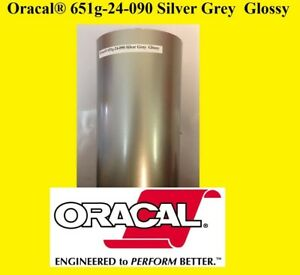 12 X 10 Ft Roll Silver Grey Glossy Oracal 651 Adhesive Cutter Plotter Sign 090