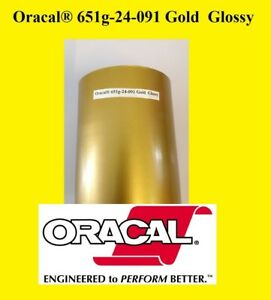 12 X 10 Ft Roll Gold Glossy Oracal 651 Vinyl Adhesive Cutter Plotter Sign 091