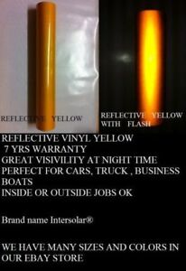 24 X 150 Ft Yellow Reflective Vinyl Adhesive Cutter Sign Special Price