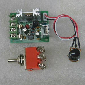 Dc12 24v Pwm Miniature Dc Motor Speed Controller With Reversing Switch