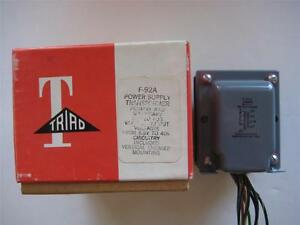 Triad Power Transformer F 92a Secondary 10 20 40 Vac Ct 1 A Pri 115 V Rectifier